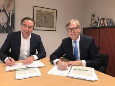 Ondertekening anterieure overeenkomst nieuwbouwontwikkeling 'De Rugghe' -
